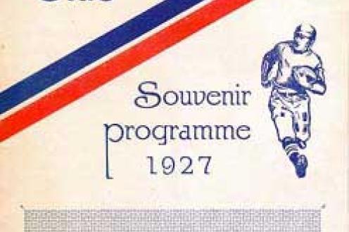 Rugby Club Souvenir Programme.