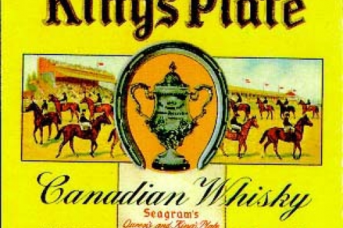 """King's Plate"" label on whiskey."