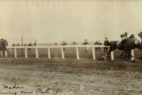 Horse racing photograph.