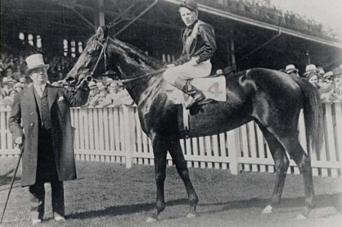 E. F. Seagram and horse.