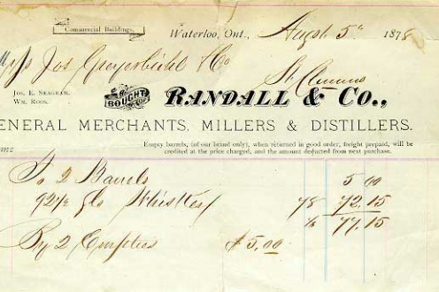 Invoice from Randall & Co.