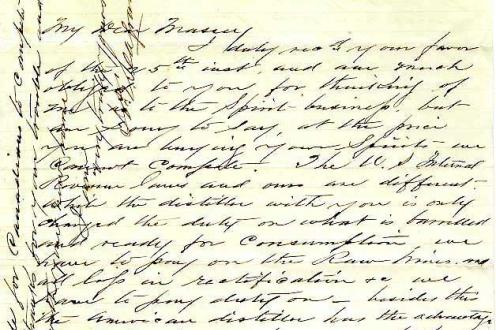 Letter from J.E. Seagram.