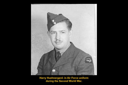 Harry Huehnergard- in Air Force uniform during the Second World War.