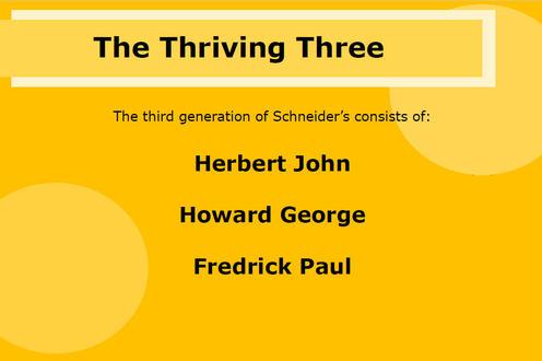 The Thriving Three