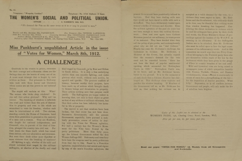 Front and back of leaflet.