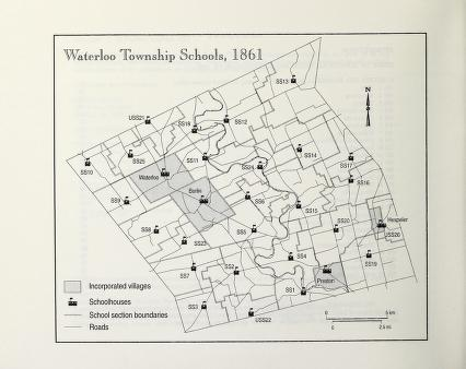 Map of Waterloo Township schools 1861