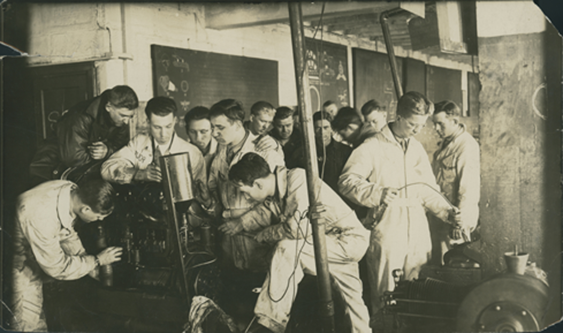 Harry Byers instructing students