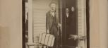 Abraham Moyer leaving his house in Kansas
