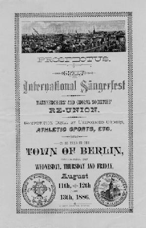 Prospectus. Great International Sängerfest