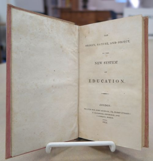 Title page of The Origin, Nature, and Object of the New System of Education by Robert Southey