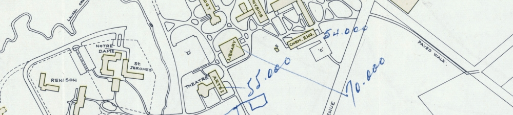 Old University of Waterloo Campus Map