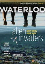 waterloo magazine cover spring 2015 issue