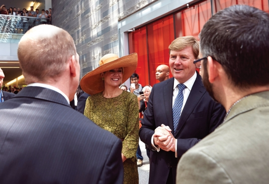 Dutch King and Queen visit campus