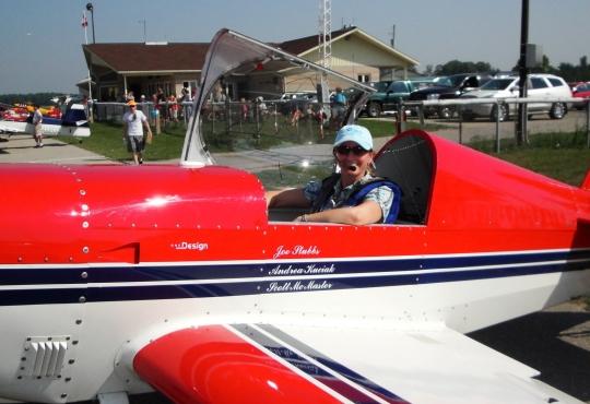 Andrea preparing for take off