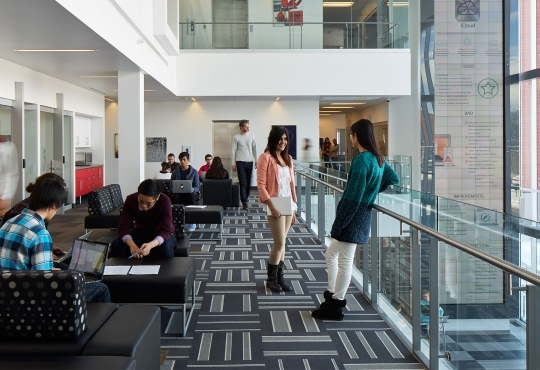 Students working in the Stratford Campus