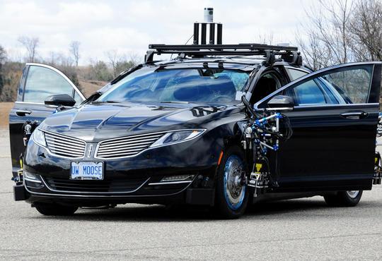 picture of autonomoose the atonomous car