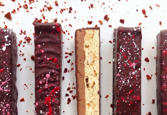 A selection of chocolate biscotti