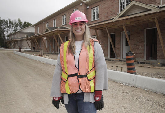 Jacklyn at job site