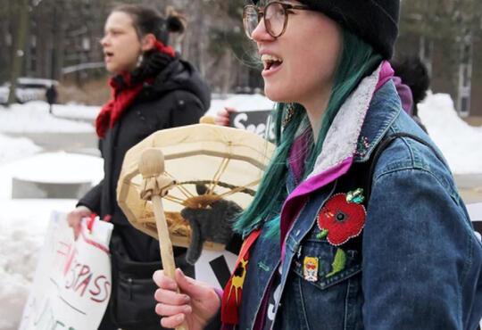 Katie on drum