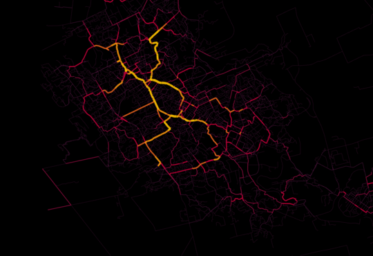a map of waterloo region cycling paths