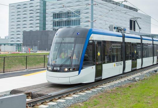 ION light rail train