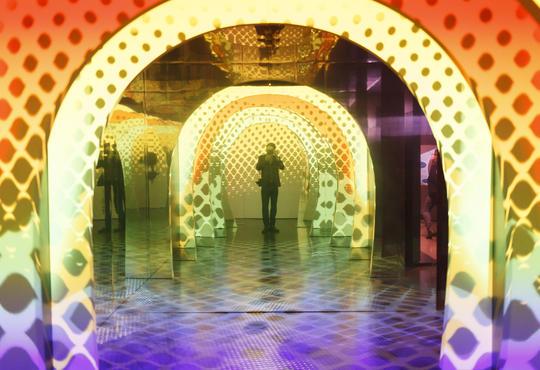 quantum physics mirror and light display