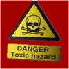 "Toxic hazard"" with skull and crossed bones"