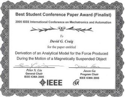 """Behrad's student wins """"Best Student Conference Paper Award (Finalist)"""""""