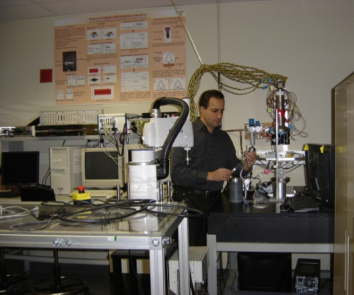 Behrad working in his lab