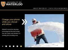 uWaterloo home page website