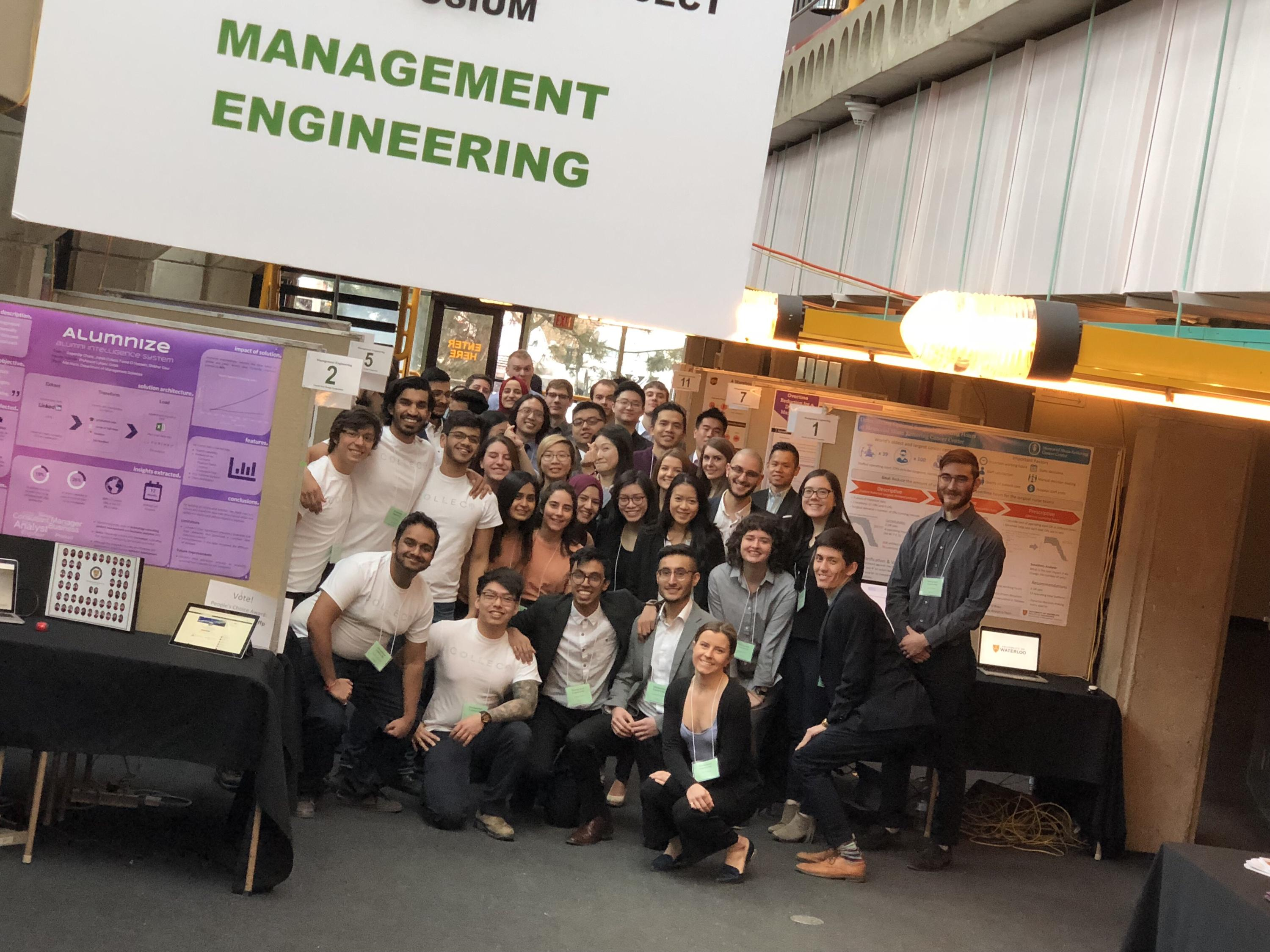 Management engineering class at their symposium