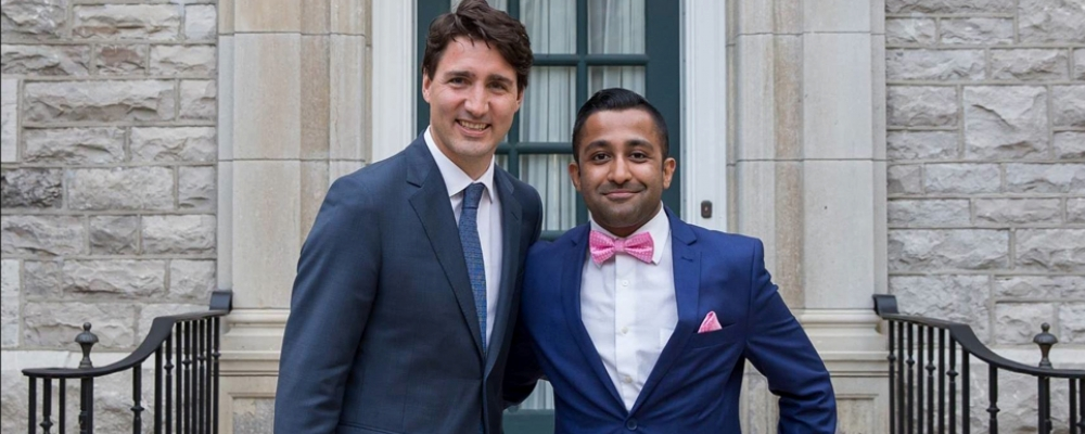 Zuhair with Prime Minister Trudeau