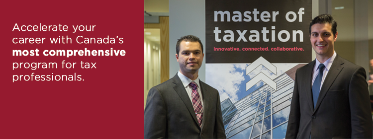 Accelerate your career with Canada's most comprehensive program for tax professionals.
