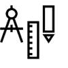 Picture of a compass, ruler, and pencil