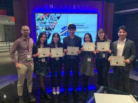 Team University of Waterloo, Faculty of Mathematics, 3rd Place in Rotman International Trading Competition 2019.