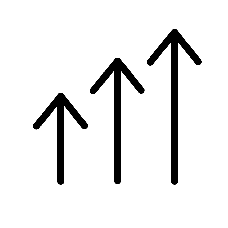 arrow icons, pointing upwards
