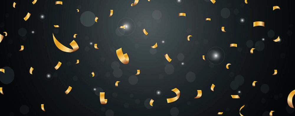 Confetti celebration banner