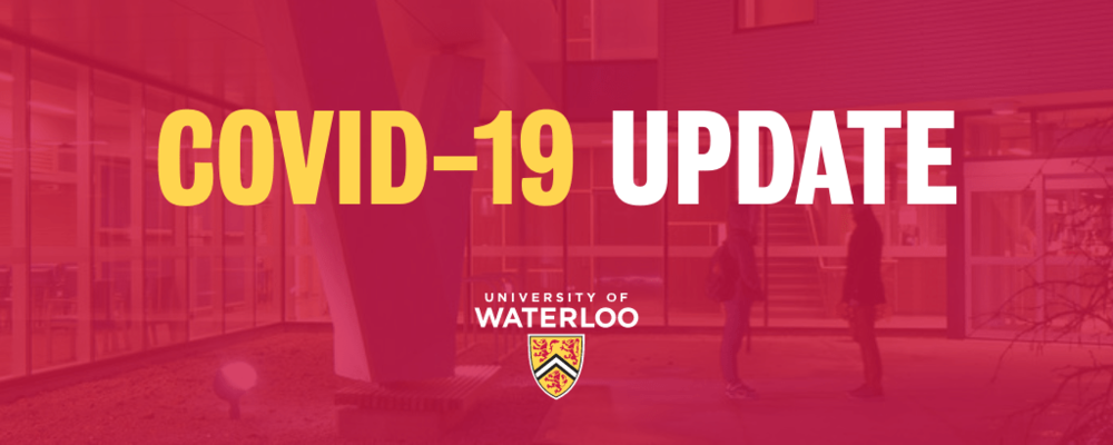 COVID-19 Update with university logo