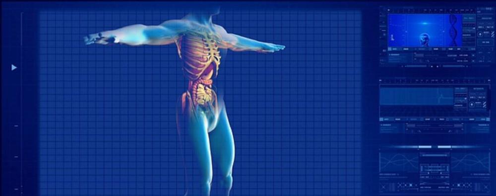 Digital scan of human body
