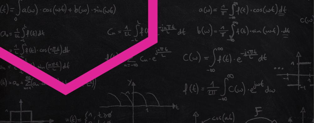 Math equation and hexagon shape
