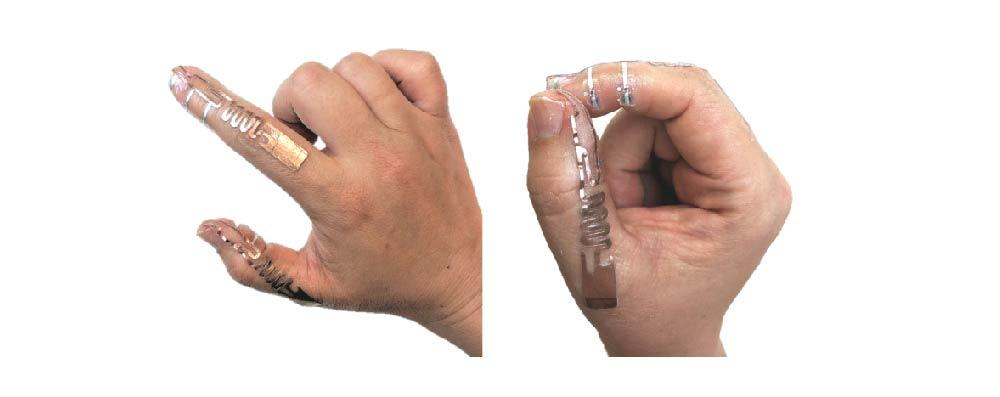 Tip-Tap device on fingers