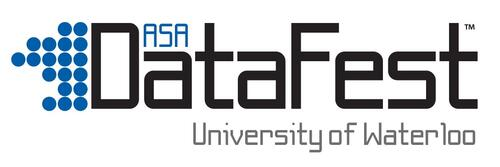 datafest text logo reading, ASA Datafest University of Waterloo
