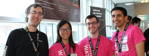Math ambassadors ready to greet students at an Open House