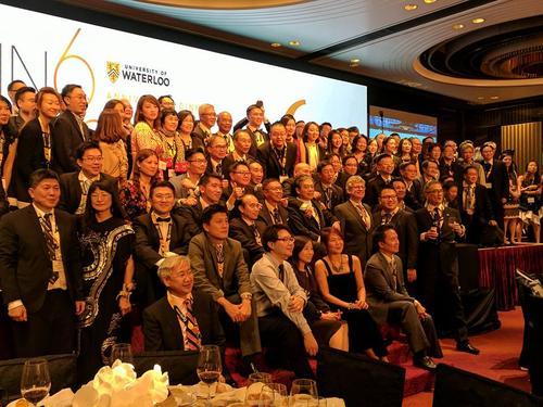 Math alumni attending the Alumni Association Gala in Hong Kong
