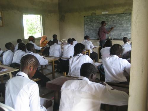 Victory Senior Secondary School classroom.
