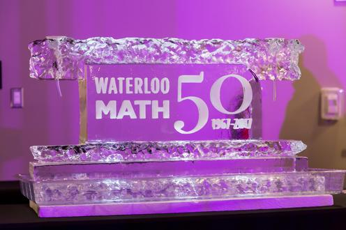 Math 50th Ice Sculpture