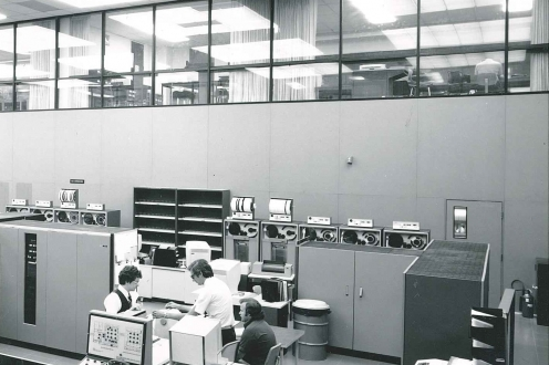 Red room in the computer centre, 1978