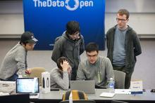 Alex and his team at the Data Open