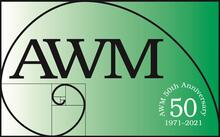 Association for Women in Mathematics 50th anniversary logo