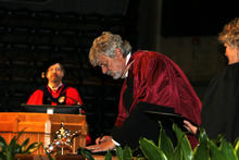 David Sankoff receives his honourary doctorate